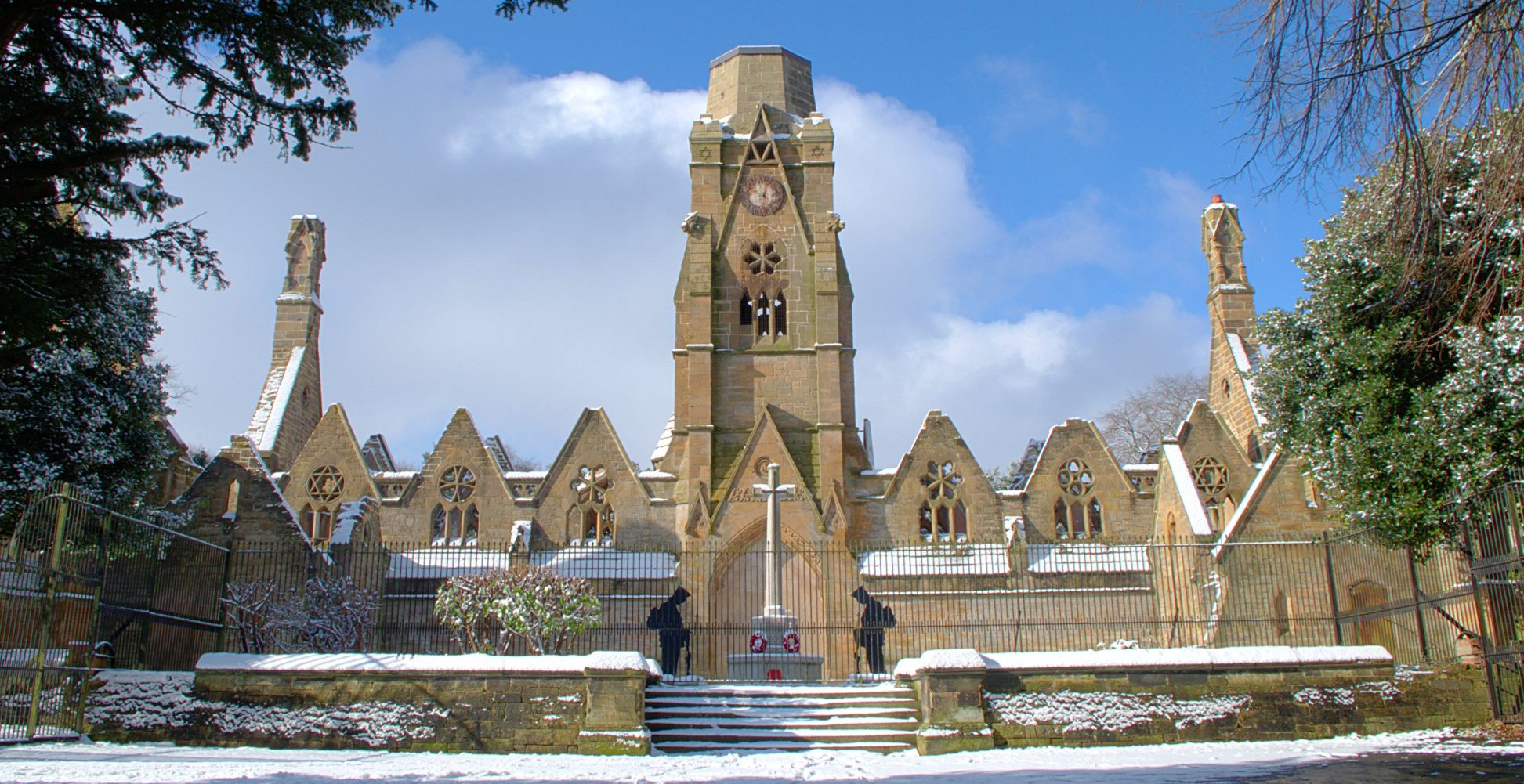 Flaybrik Chapel in the snow