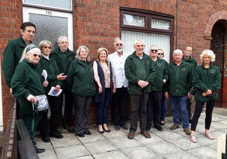 Friends of Flaybrick at unveiling of Mary Mercer Plaque