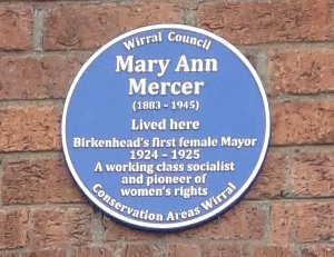 Mary Ann Mercer - Blue Plaque