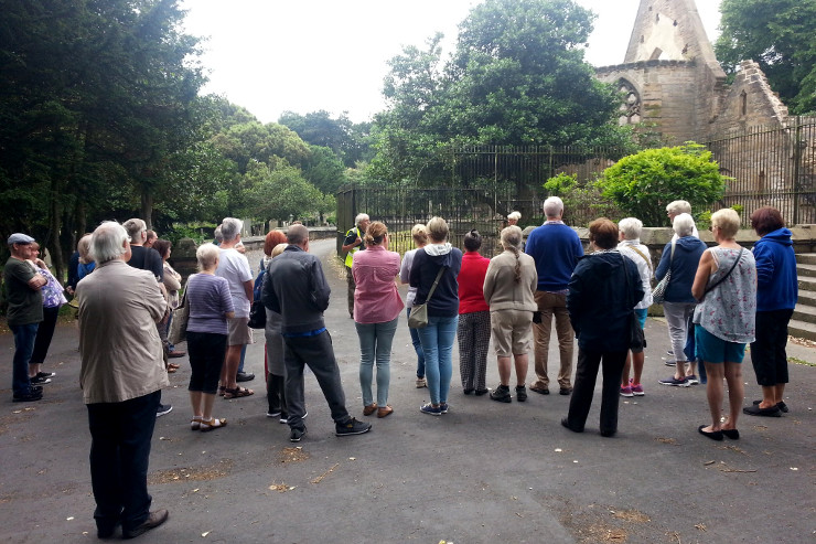 Visitors enjoying third guided walk
