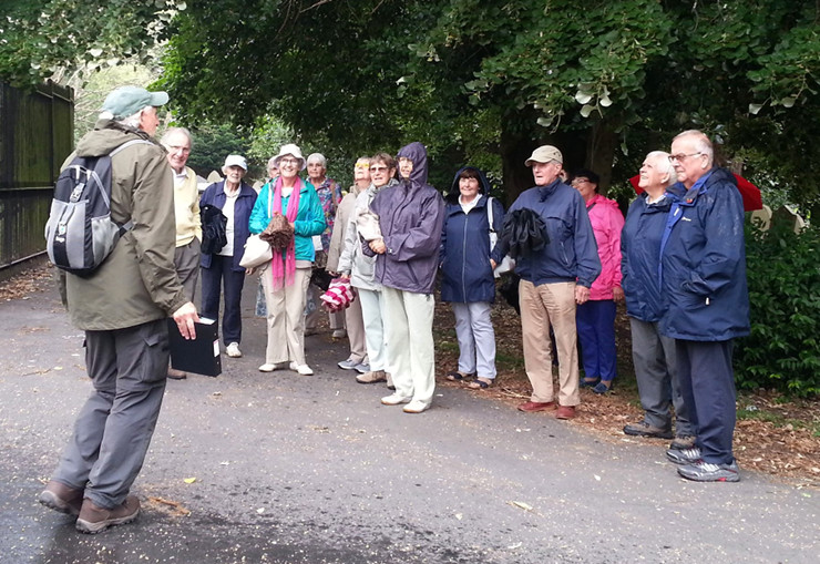 Rob leading U3A group on guided walk