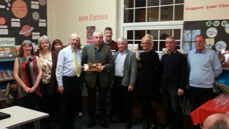 Freinds of Flaybrick receiving Wirral Horn Award presented by The Wirral History and Heritage Association